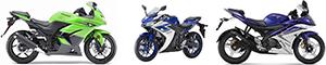 Motor Terbaru Yamaha R15, Yamaha R25 dan Kawasaki Ninja 250